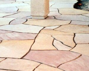 Flagstone installation in Tucson, Arizona